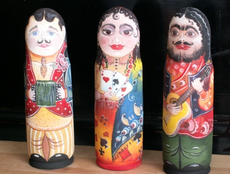 Куклы с росписью