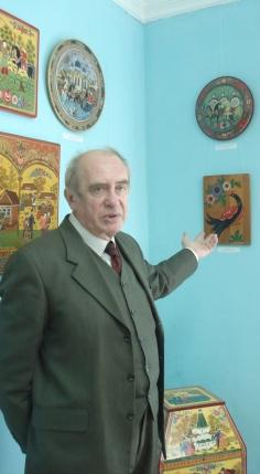Сергей Петрович Чуянов о своей Коллекции работ мастеров городецкой росписи и резьбы по дереву.