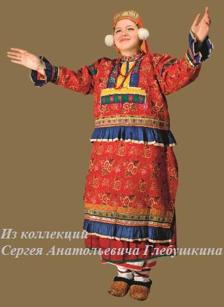 Костюм женский праздничный. Вознесенский район, село Криуши