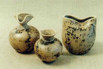 вазочки обварная керамика