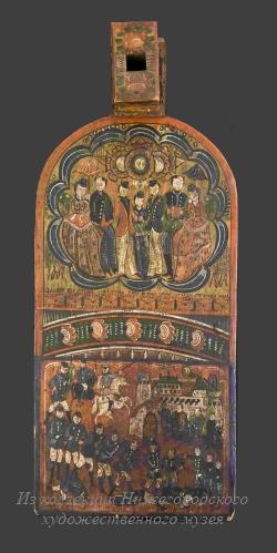 НГХМ: Роспись донца «Взятие Карса». Гаврила Лаврентьевич Поляков.